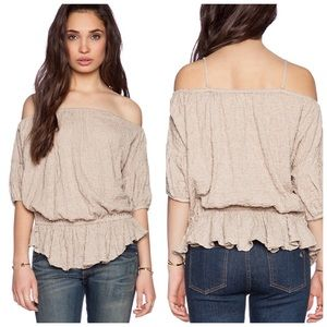 Free People Shades of Cool Top in Chai size L